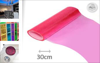 Roze doorzichtig plotterfolie