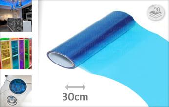 Blauw transparant plotterfolie