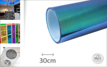 Flipflop blauw transparant plotterfolie