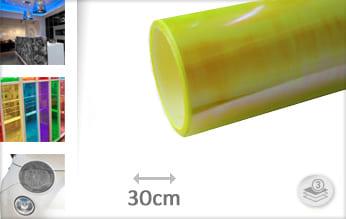 Flipflop geel transparant plotterfolie