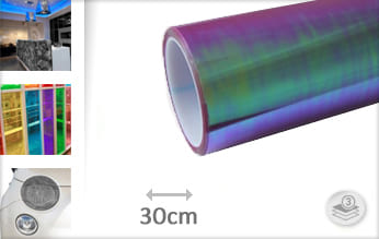 Flipflop paars transparant plotterfolie