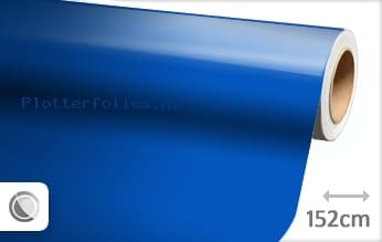 Glans blauw plotterfolie