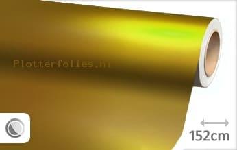 Mat chroom geel plotterfolie