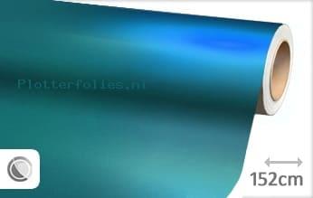 Mat chroom lichtblauw plotterfolie