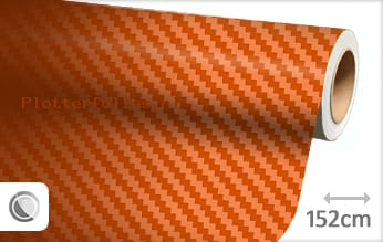 Oranje 3D carbon plotterfolie