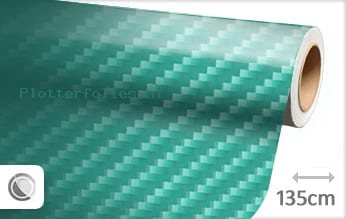 Turquoise 2D carbon plotterfolie