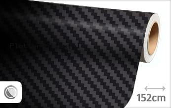 Zwart 3D carbon groot plotterfolie